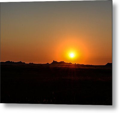 Badlands Sunrise Metal Print by Robin Williams