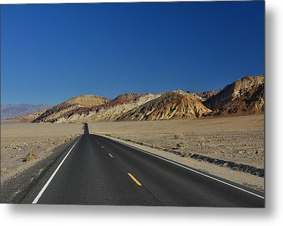 Metal Print featuring the photograph Badwater Road - Death Valley by Dana Sohr