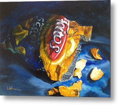 Bag Of Chips Metal Print by LaVonne Hand
