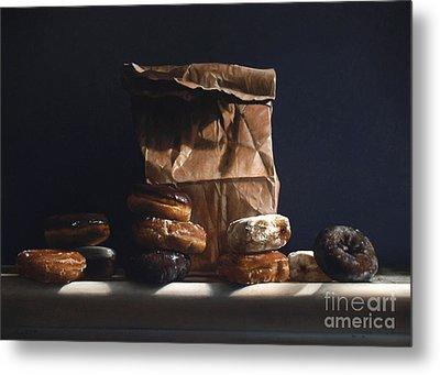 Bag Of Donuts Metal Print by Larry Preston