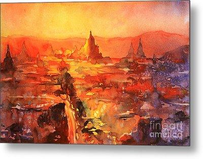 Bagan Ruins Metal Print