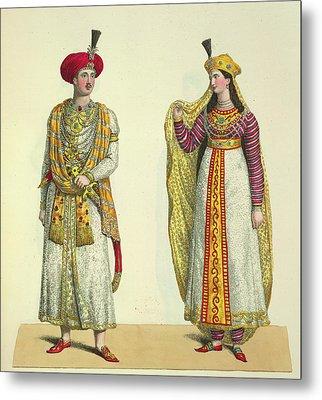 Bahadour Shah And Suria Banu Metal Print by British Library