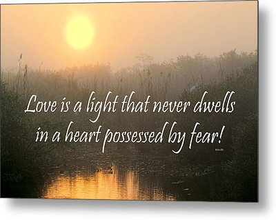 Bahai Quote Sunrise Metal Print by Rudy Umans
