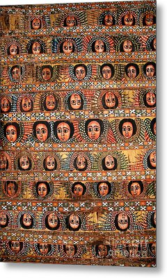 Bahar Bahir Dar Ethiopia Bright Colour Painted Church Ceiling Metal Print