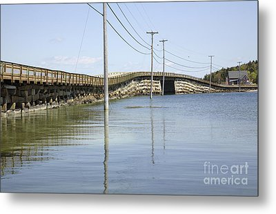 Bailey Island Bridge - Harpswell Maine Usa Metal Print by Erin Paul Donovan
