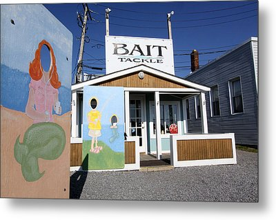 Bait And Tackle Greenport New York Metal Print