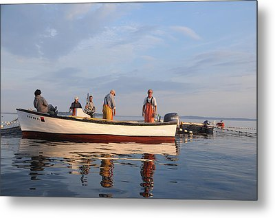 Metal Print featuring the photograph Bait Fishers by Paul Miller