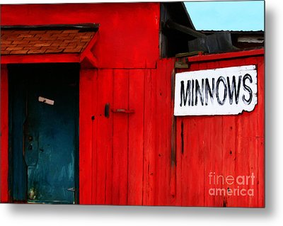 Bait Shop 20130309-2 Metal Print by Wingsdomain Art and Photography