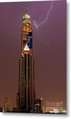 Baiyoke Sky Hotel  -  Strike One. Metal Print by Pete Reynolds
