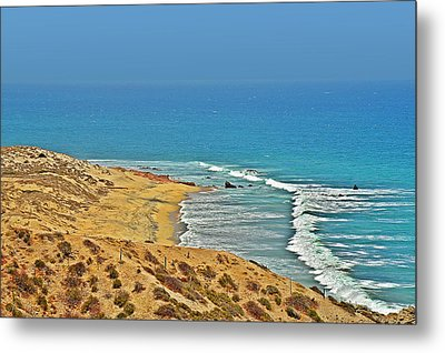 Metal Print featuring the photograph Baja California - Desert Meets Ocean by Christine Till
