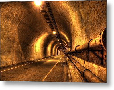 Baker Barry Tunnel Metal Print by Mike Ronnebeck