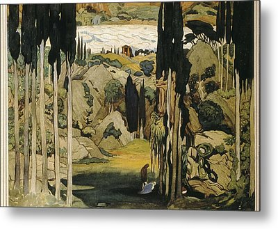 Bakst, Léon 1866-1924. Daphnis Et Metal Print by Everett