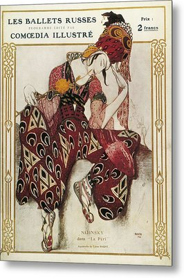 Bakst, L�on 1866-1924. La P�ri. 1911 Metal Print by Everett