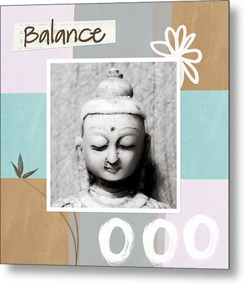 Balance- Zen Art Metal Print by Linda Woods
