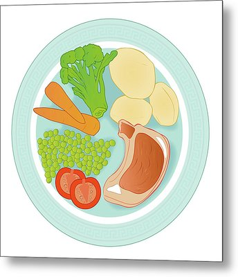 Balanced Meal Metal Print