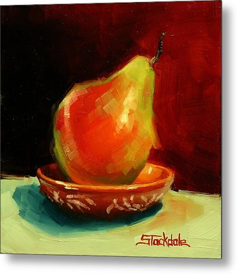 Metal Print featuring the painting Balancing Act by Margaret Stockdale