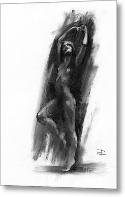 Metal Print featuring the drawing A Dance Of Balance by Paul Davenport