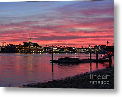 Balboa Pavilion At Dusk Metal Print by Eddie Yerkish