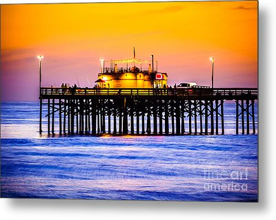 Balboa Pier At Sunset Picture Metal Print