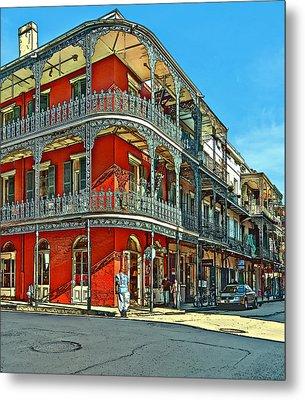 Balconies Painted Metal Print by Steve Harrington