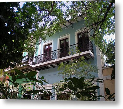 Balcony At La Caleta Metal Print