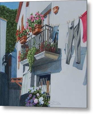 Balcony In Maratea Metal Print