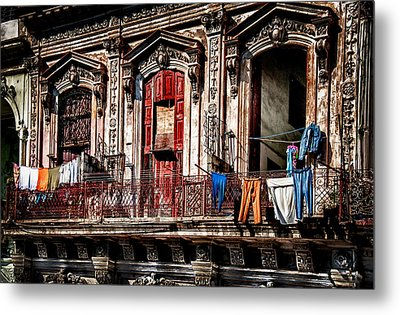 Balcony In Old Havana  Metal Print