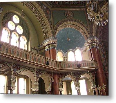 Balcony Of Sofia Synagogue Metal Print