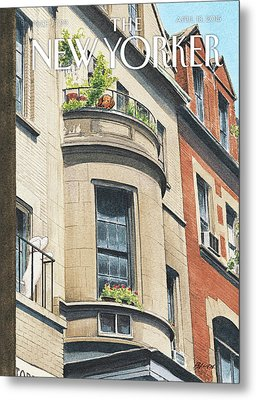Balcony Scene Metal Print