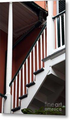 Balcony Stairs Metal Print by John Rizzuto