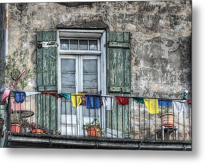 Balcony View Metal Print