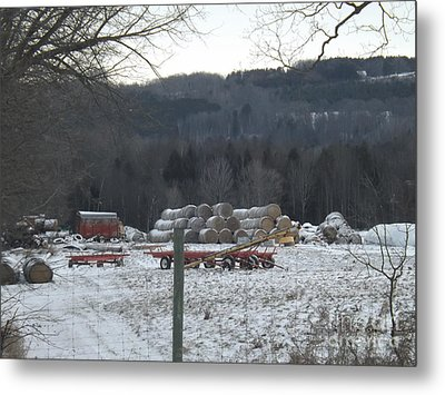 Metal Print featuring the photograph Bales Of Hay by Brenda Brown