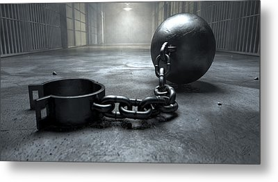 Ball And Chain In Prison Metal Print