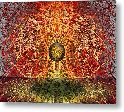 Metal Print featuring the digital art Ball And Strings by Otto Rapp