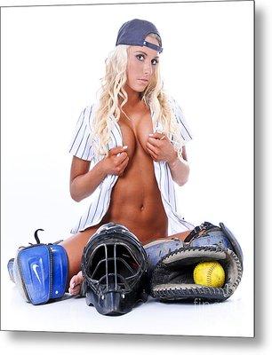 Ball Girl Metal Print