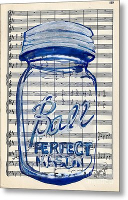 Metal Print featuring the painting Ball Jar Classical #119 by Ecinja Art Works