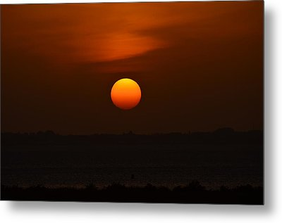Metal Print featuring the photograph Ball Of Fire by Debra Martz