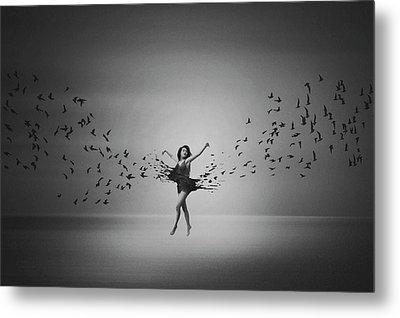 Ballerina Flight Of Birds Metal Print