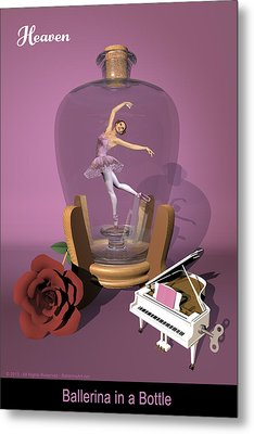 Ballerina In A Bottle - Heaven Metal Print by Andre Price