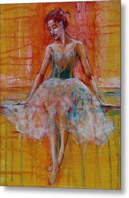 Ballerina In Repose Metal Print by Jani Freimann