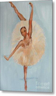 Metal Print featuring the painting Ballerina by Marisela Mungia