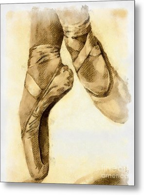 Ballerina Shoes Metal Print