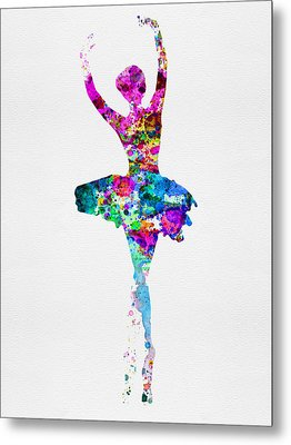 Ballerina Watercolor 1 Metal Print