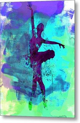 Ballerina Watercolor 4 Metal Print by Naxart Studio