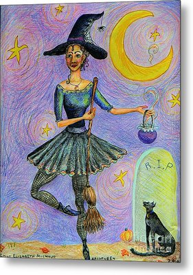 Ballerina Witch Metal Print by Emily Michaud