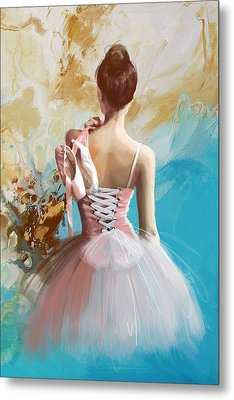 Ballerina's Back  Metal Print by Corporate Art Task Force