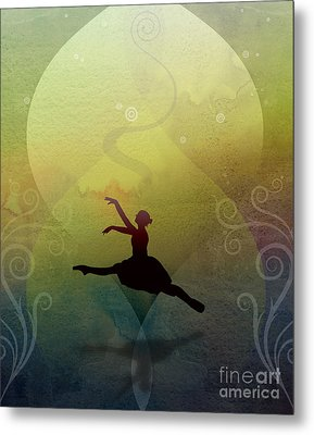 Ballet In Solitude - Color Verde Metal Print by Peter Awax