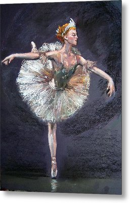 Metal Print featuring the painting Ballet by Jieming Wang