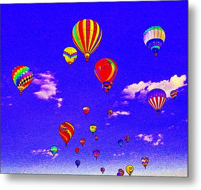 Ballon Race Metal Print by Mustafa Abdullah