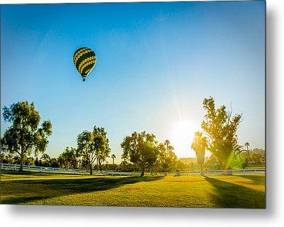 Balloon At Sunset Metal Print
